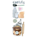 Martha Stewart Crafts - 3 Dimensional Glittered Stickers - Cookie Baking