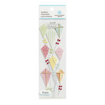 Martha Stewart Crafts - 3 Dimensional Stickers with Fabric Accents - Kite