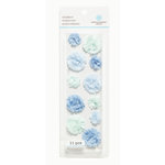 Martha Stewart Crafts - 3 Dimensional Layered Stickers - Blue Pom Pom