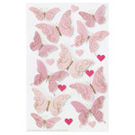 Martha Stewart Crafts - Valentine - Stickers with Epoxy and Foil Accents - Butterfly