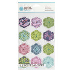 Martha Stewart Crafts - Damask Collection - Layered Stickers - Flower