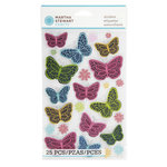 Martha Stewart Crafts - Modern Damask Collection - Stickers - Butterflies
