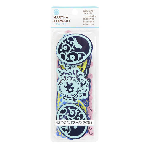 Martha Stewart Crafts - Modern Damask Collection - Chipboard Stickers - Flourish