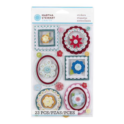 Martha Stewart Crafts - Stitched Collection - Chipboard Stickers - Frames