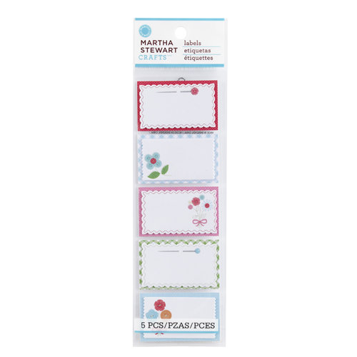 Martha Stewart Crafts - Stitched Collection - Self Adhesive Fabric Labels