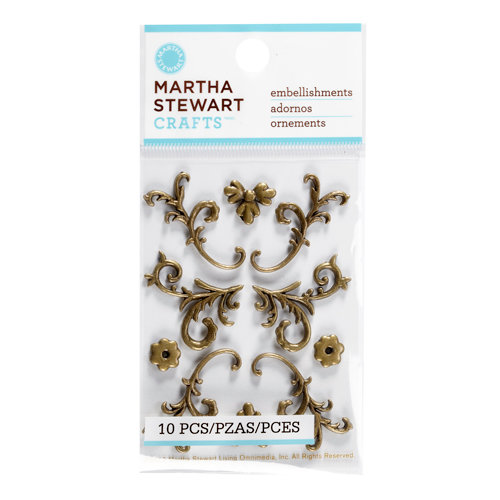 Martha Stewart Crafts - Vintage Collection - Metal Embellishments - Heirloom Flourish