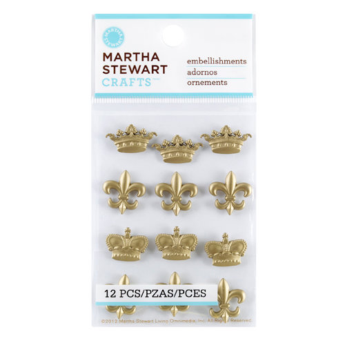 Martha Stewart Crafts - Vintage Collection - Metal Embellishments - Heirloom Royal Accent