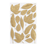 Martha Stewart Crafts - 3 Dimensional Embossed Stickers with Foil Accents - Elegant Nature Leaves