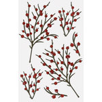 Martha Stewart Crafts - Stickers with Glitter Accents - Berry Branch