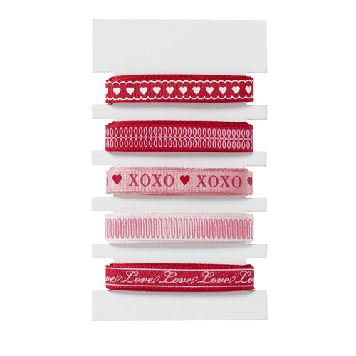 Martha Stewart Crafts - Valentine - Decorative Ribbon Pack - Heart and Love