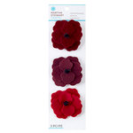 Martha Stewart Crafts - Vintage Collection - Felt Flowers - Red Poppies