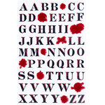 Martha Stewart Crafts - Halloween - Stickers with Glitter Accents - Bloody Alphabet