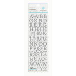 Martha Stewart Crafts - Glitter Stickers - Small Alphabet - Silver