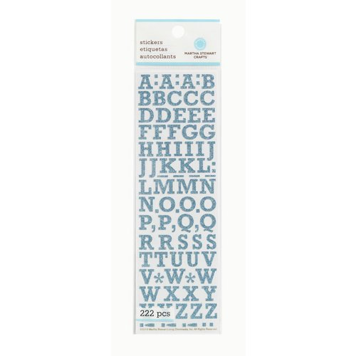 Martha Stewart Crafts - Glitter Stickers - Small Alphabet - Blue