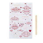 Martha Stewart Crafts - Valentine - Transfers with Gem Accents - Heart and Love