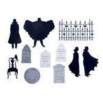 Martha Stewart Crafts - Halloween - Self Adhesive Die Cuts with Metallic Accents - Vampire
