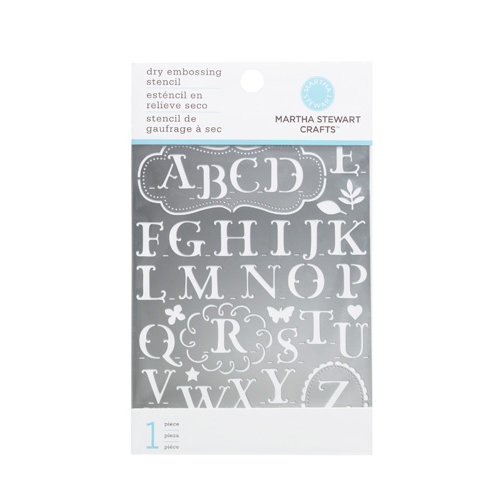 Martha Stewart Crafts - Dry Embossing Stencil - Traditional Alphabet