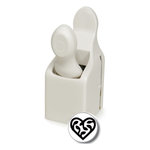 Martha Stewart Crafts - Valentine - Double Craft Punch - Medium - Scroll Heart