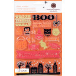 Martha Stewart Crafts - Halloween - Stamp Set - Friends