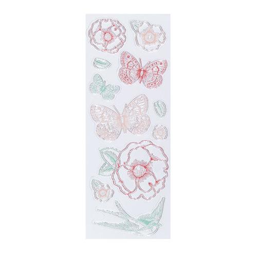 Martha Stewart Crafts - Clear Acrylic Stamps - Vintage Garden
