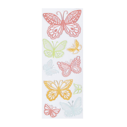 Martha Stewart Crafts - Clear Acrylic Stamps - Lace Butterflies
