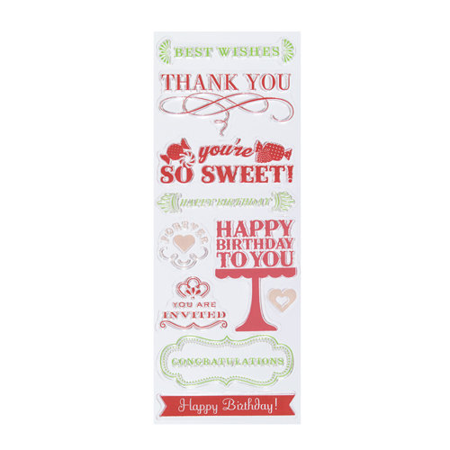 Martha Stewart Crafts - Clear Acrylic Stamps - All Occasions