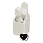 Martha Stewart Crafts - Valentine - Double Craft Punch - Medium - Heart Button