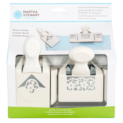 Martha Stewart Crafts - Punch Around the Page - Craft Punch Set - Large - Floral Crochet