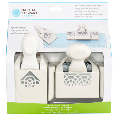Martha Stewart Crafts - Punch Around the Page - Craft Punch Set - Large - Spiral Arches