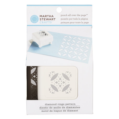 Martha Stewart Crafts - Punch All Over the Page - Craft Punch - Pattern Diamond Rings