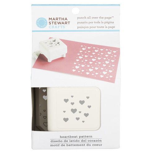 Martha Stewart Crafts - Punch All Over the Page - Craft Punch - Pattern Heartbeat