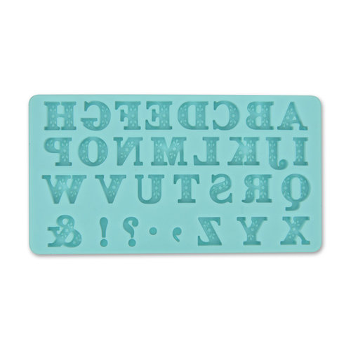 Martha Stewart Crafts - Crafter's Clay Collection - Silicone Mold - Alphabet