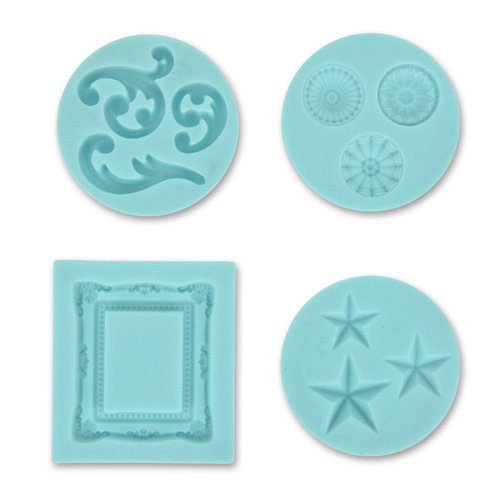 Martha Stewart Crafts - Crafter's Clay Collection - Silicone Mold - Frame and Flourishes
