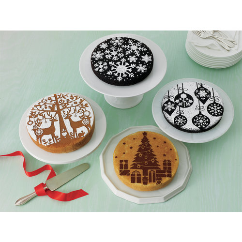 Martha Stewart Crafts - Christmas - Cake Stencils - Holiday