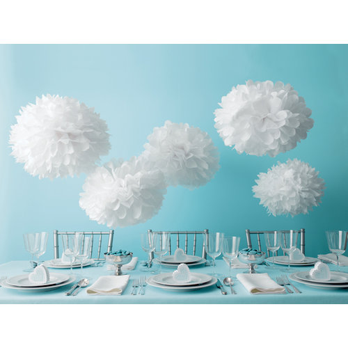 Martha Stewart Crafts - Doily Lace Collection - Pom Poms - White