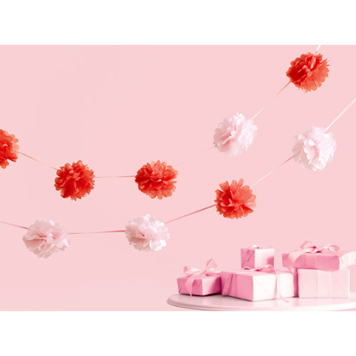 Martha Stewart Crafts - Vintage Girl Collection - Pom Pom Garland - Pink