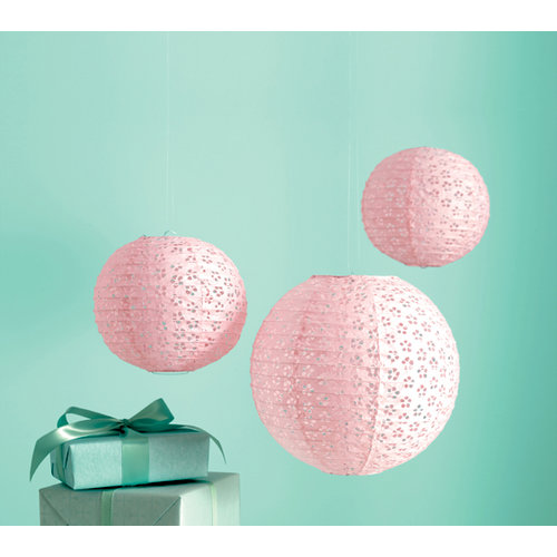 Martha Stewart Crafts - Vintage Girl Collection - Eyelet Lantern - Pink