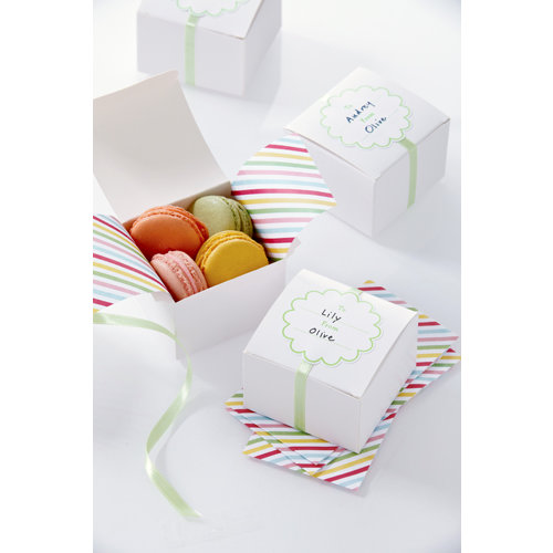 Martha Stewart Crafts - Modern Festive Collection - White Treat Boxes