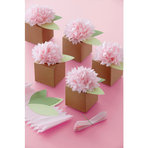 Martha Stewart Crafts - Vintage Girl Collection - Treat Boxes - Pom Pom Flower