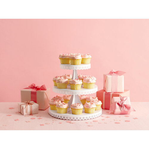 Martha Stewart Crafts - Doily Lace Collection - Cupcake Stand
