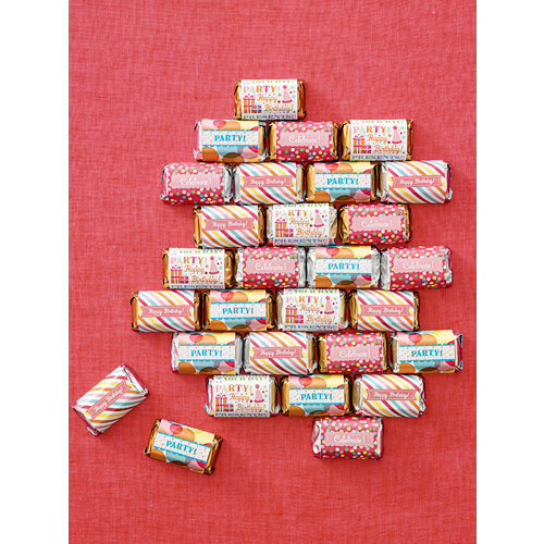 Martha Stewart Crafts - Modern Festive Collection - Mini Candy Bar Wrappers