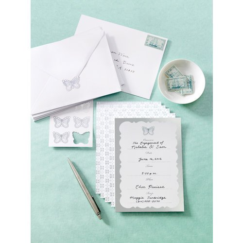 Martha Stewart Crafts - Doily Lace Collection - Butterfly Invitations