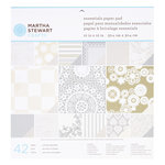 Martha Stewart Crafts - Doily Lace Collection - 12 x 12 Essentials Paper Pad - Kraft