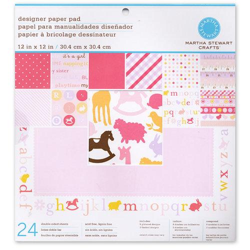 Martha Stewart Crafts - 12 x 12 Designer Paper Pad - Baby Girl