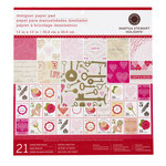 Martha Stewart Crafts - Valentine - 12 x 12 Designer Paper Pad - Key and Heart