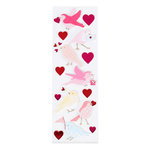 Martha Stewart Crafts - Valentine's Day Collection - Foam Stickers with Foil Accents - Enchanted Woodland - Bird