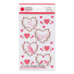 Martha Stewart Crafts - Valentine's Day Collection - Stickers with Glitter Accents - Enchanted Woodland - Wreath