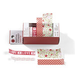 Martha Stewart Crafts - Valentine's Day Collection - Paper Tape - Hearts and Flowers