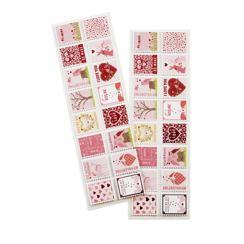 Martha Stewart Crafts - Valentine's Day Collection - Stickers with Foil Accents - Enchanted Woodland - Stamp