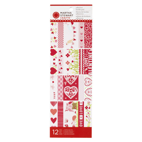 Martha Stewart Crafts - Valentine's Day Collection - Self Adhesive Border Pad - Enchanted Woodland